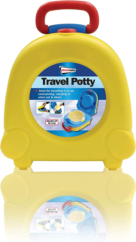 asiento de inodoro port/átil para ni/ños accesorio de entrenamiento para inodoro Reutilizable menores de 3 a/ños 23 x 25,5 x 12,5 cm Streetwize SWPOT1 f/ácil de lavar Orinal de viaje