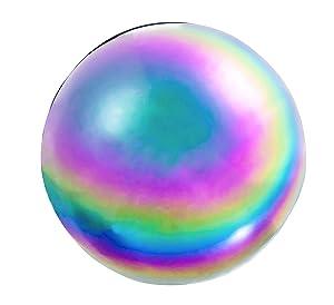 Evergreen Garden Mosaic Glass Gazing Ball (Oil Slick Stainless Steel)