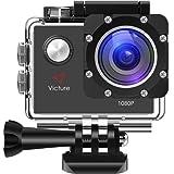 Victure Action Cam Full HD 1080P 12MP Impermeabile Sport Action Camera 1050mAh Batterie 170°Grandangolare 20+ Kit Accessori
