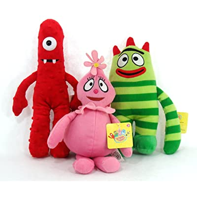 "Yo Gabba Gabba 11"" Plush Set - Includes 11"" Muno, 9"" Brobee, and 11"" Foofa: Toys & Games"