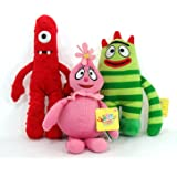 "Yo Gabba Gabba 13"" Plush Set Includes Brobee Muno and Foofa [Toy]"