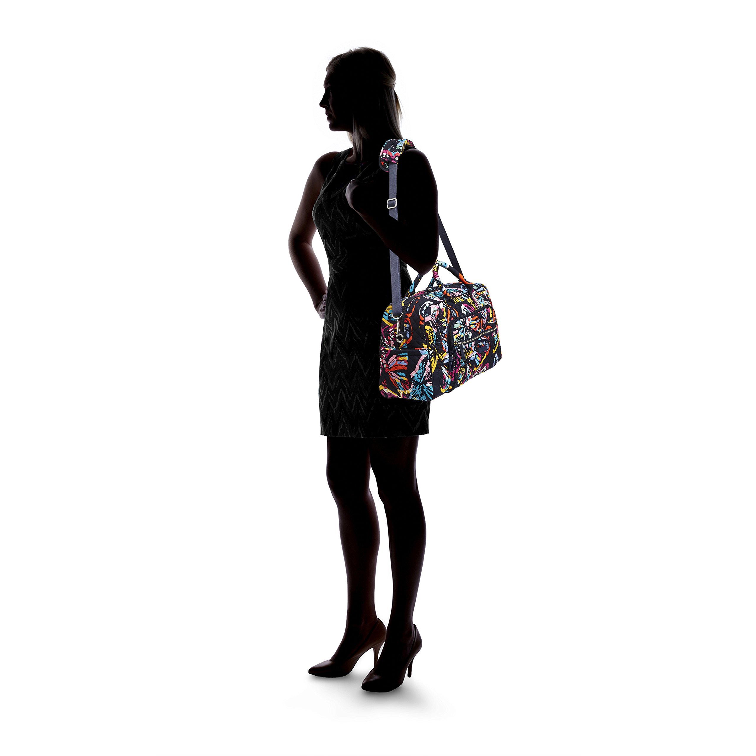 Vera Bradley Iconic Compact Weekender Travel Bag, Signature Cotton, Butterfly Flutter by Vera Bradley (Image #5)