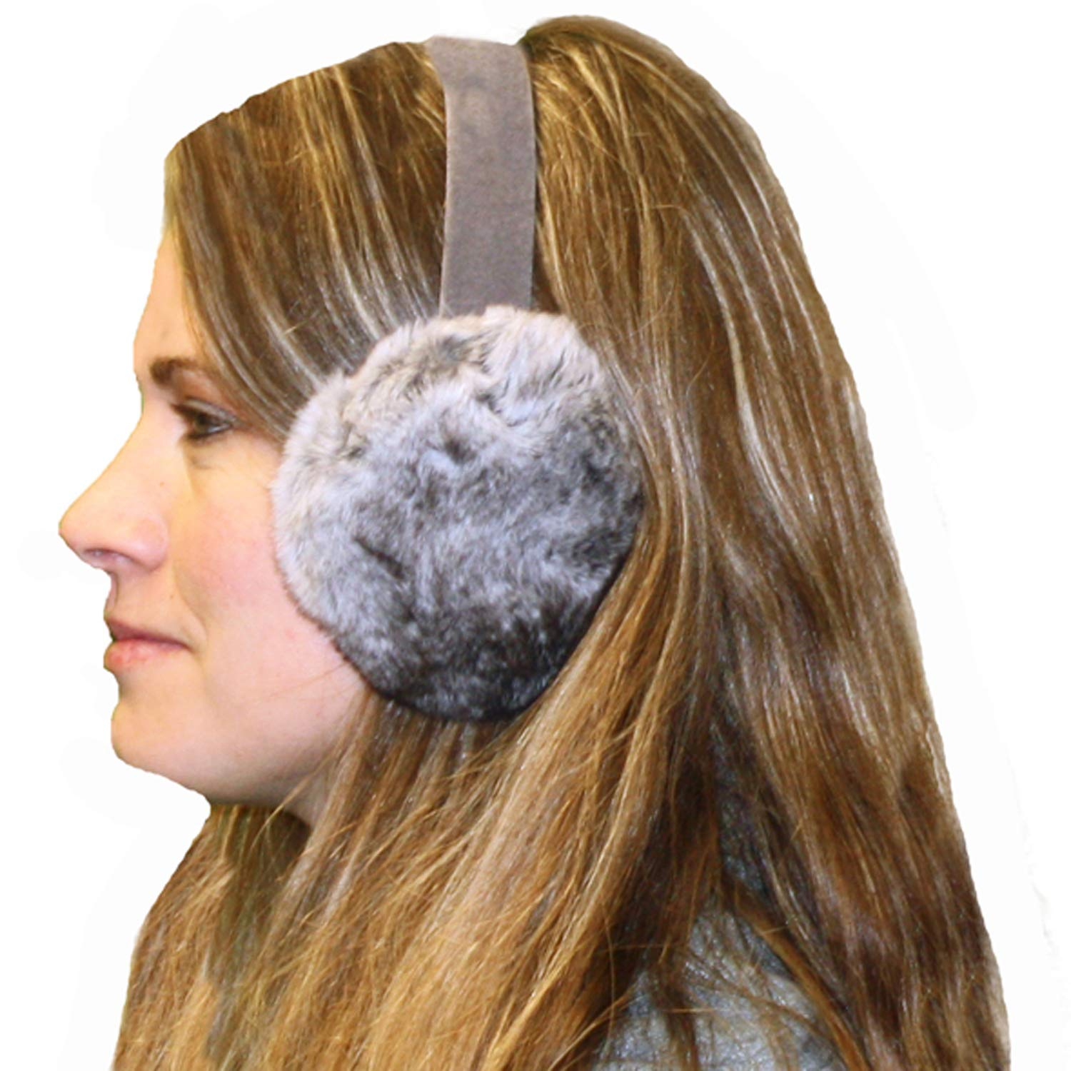 Glacier Wear Chinchilla Rex Rabbit Ear Muffs