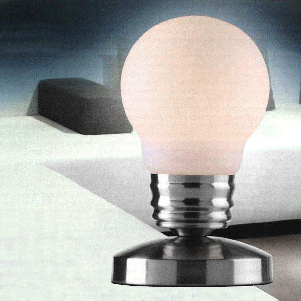 Genial Coole Nachttischlampe Dekoration Von Grundig Edelstahl Tischlampe Tischleuchte Touchlampe Touch Conrol: