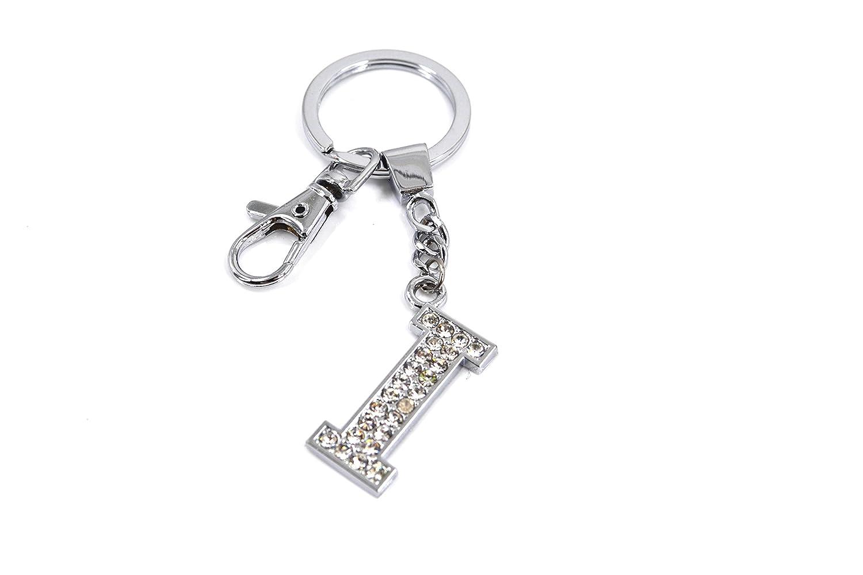 Llavero con diseño de letra de diamante, Letter F, Small ...