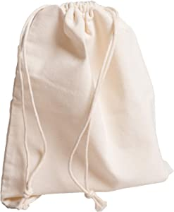 Imperius–Multipurpose Drawstring Storage Pouch for Everyday Use–Reusable Natural Eco Friendly Storage Bags-Biodegradable Eco-Friendly Bulk Bin Bags for Food-Drawstring Pouch–Set of 6 X-Large 14x17Inch