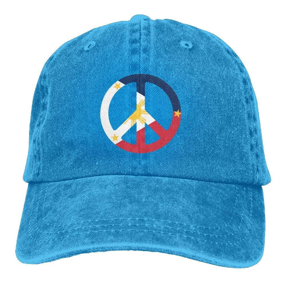 LETI LISW Flag PhilippinesVintageDenim Cap Adult Unisex Adjustable Hat