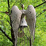 Antiqued Metal Garden Angel Statue with