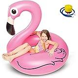 Kyerivs Riesiger aufblasbarer Flamingo, Pool-Schwimmtier, aufblasbares Sommerspielzeug, Pool-Party-Spielzeug mit schnellen Ventilen