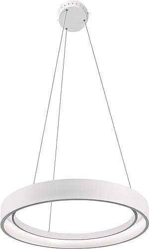 Elan 83454 1 Fornello Pendant Lighting, 38W, Sand Textured White