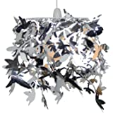 Loxton Lighting Hummingbird Pendant Shade, Silver, 25 x 30 cm