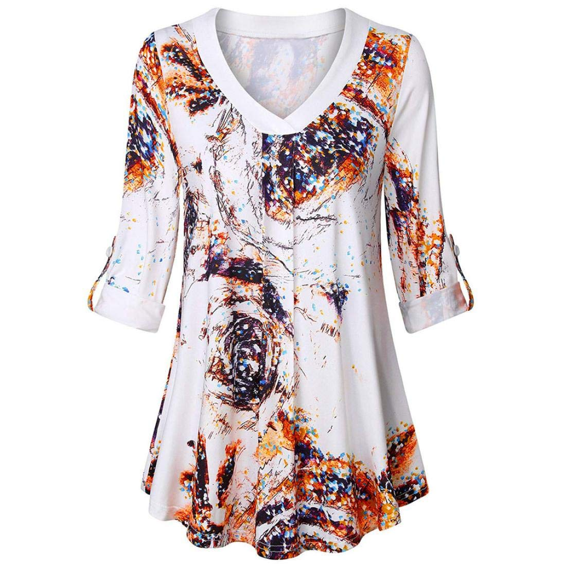 4266ffc06f98e Amazon.com  Liraly Womens Tops Clearance Womens Blouses On Sale New Fashion  Womens Long Sleeve Casual Loose Tops Tunic Shirt  Clothing