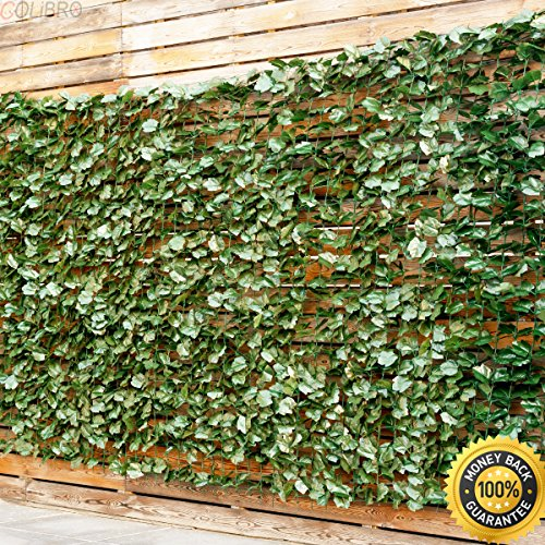 """COLIBROX--40""""x95"""" Faux Ivy Leaf Decorative Privacy Fence Screen Artificial Hedge Fencing. decorative fence ideas. decorative wood fence panels. wall fence design pictures."""