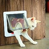 Depets Medium Cat Flap Door with 4 Way Lock