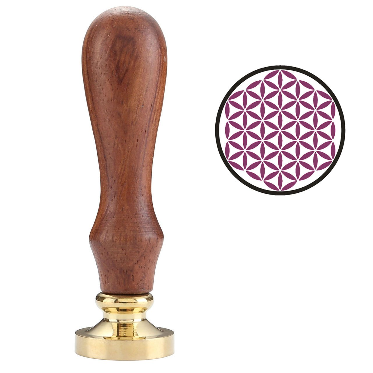 Wax Seal Stamp, Mogoko Vintage Retro Classical Wax Seal Stamp Copper Stamp with Fancy Pattern(Many patterns available) (Tree)