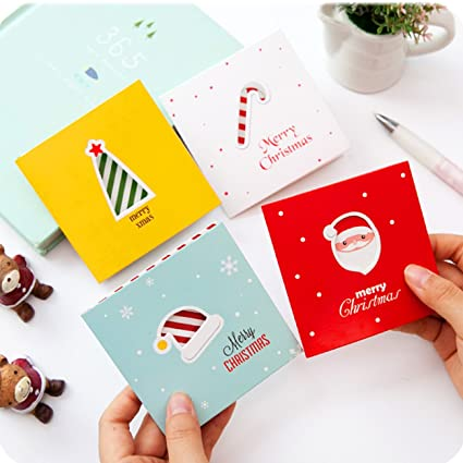 lotusflowert creative christmas cards original thanksgiving cards hollowed out mini cards simple cartoon