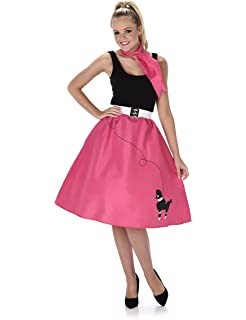 Poodle Skirt Ladies Fancy Dress 50s 60s Rock And Roll Womens Adults Costume New Medium