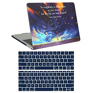 HDE MacBook Pro 13 Inch Case (2019 2018 2017 2016 Release) Rubberized Plastic Hard Shell Cover Keyboard Skin for Model A2159 A1989 A1706 A1708 Newest ...