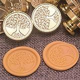 Wax Seal Stamp, Vintage Retro Brass Head Wooden