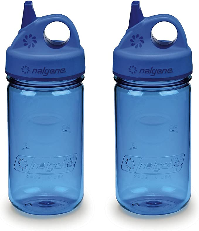 Bleu Hippocampe environ 340.19 g Nalgene Tritan Kid/'s Grip-N-Gulp Bouteille D/'eau 12 oz