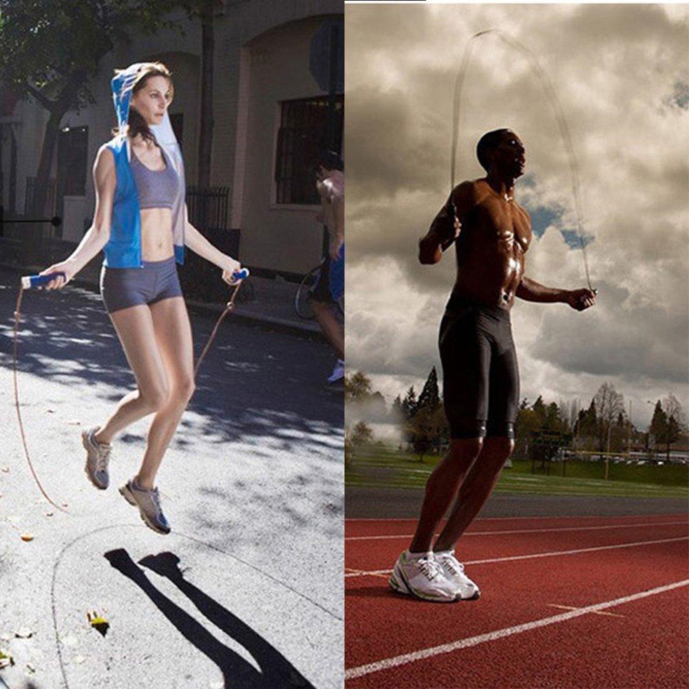 Corde de Vitesse Roulements /à Billes pour Fitness Boxe Double Unders Crossfit GYM Professionnel Corde /à Sauter en Acier R/églable