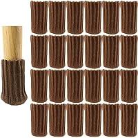 24Pcs Calcetines para Patas de Silla, Elásticos Protectores de Patas de Madera Gruesa, Muebles Tapa de Cubre…