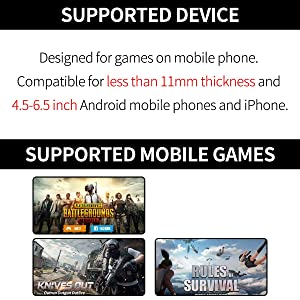 ?1 Pair? IFYOO Z108 Mobile Gaming Controller Compatible with PUBG Mobile/Compatible with Fortnitee Mobile - Sensitive Shoot and Aim Trigger L1R1 Compatible with Android & iPhone (Color: 1 Pair)
