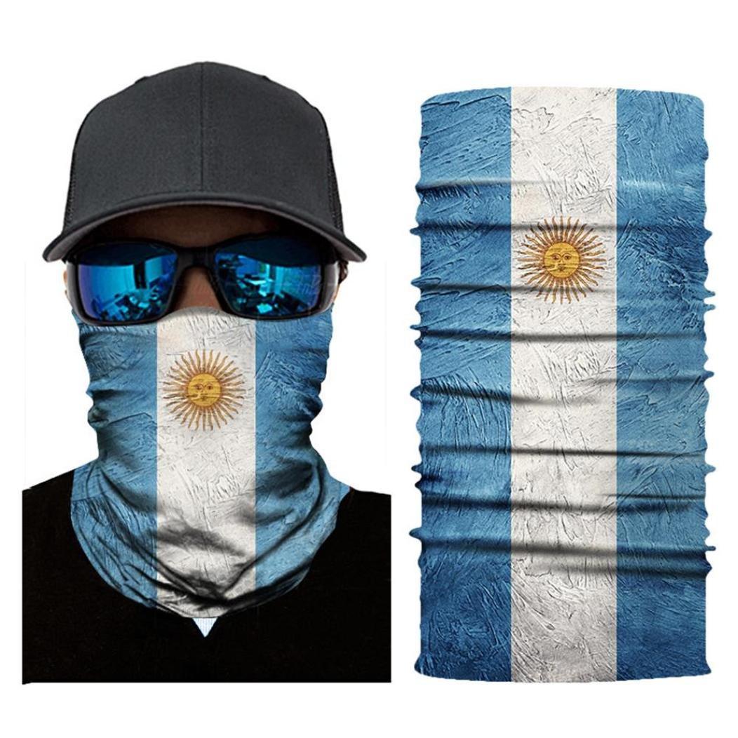 Jamicy 3D Print Mask Face Mask Bandana Cycling Motorcycle Head Scarf Neck Face  Mask Ski Balaclava Headband for Men Women (B)  Amazon.co.uk  Sports   ... 0e97c64fc405