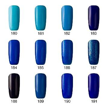 Vrenmol - Juego de 12 esmaltes de uñas de gel con luz UV LED para manicura: Amazon.es: Belleza
