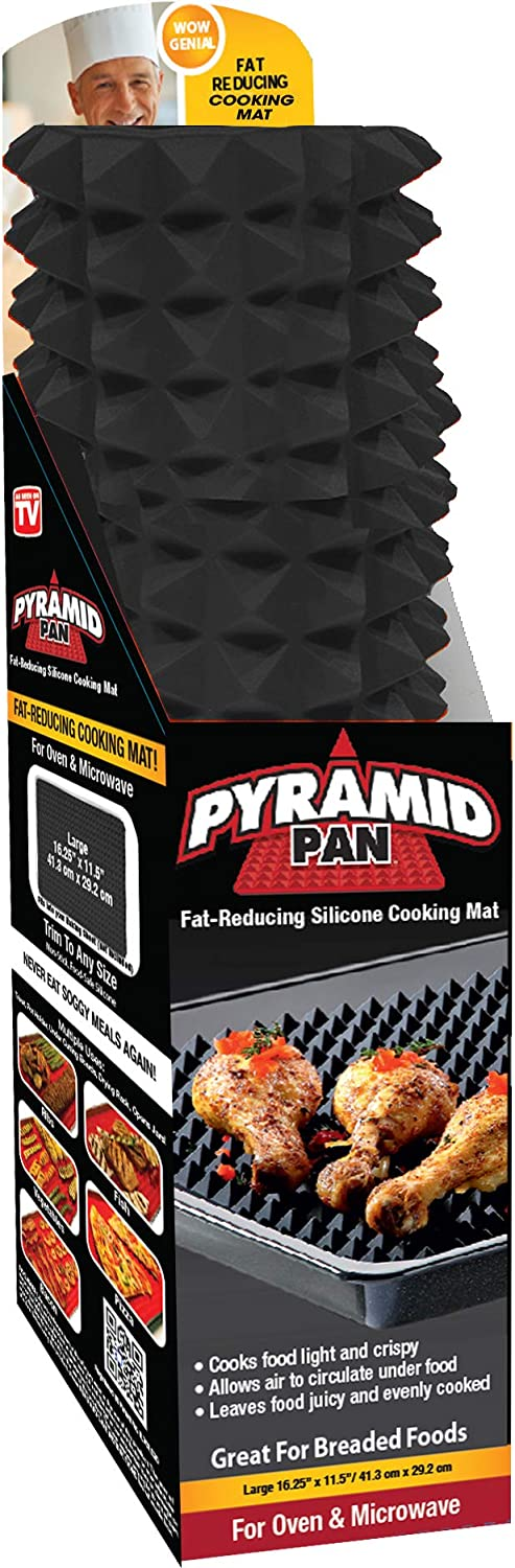 Pyramid Pan Non Stick Silicon Cooking Mat Oven Baking Tray Fat 17*17 cm.#CO