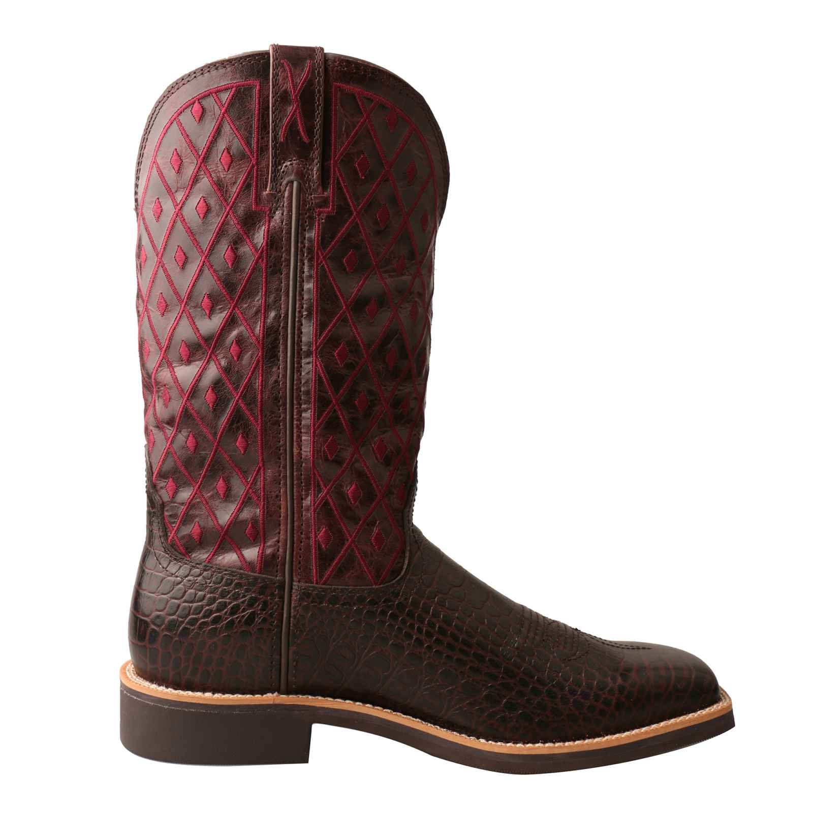 Twisted X Women's Top Hand Caiman Print Square Toe Cowgirl Boots (6.5) by Twisted X (Image #6)