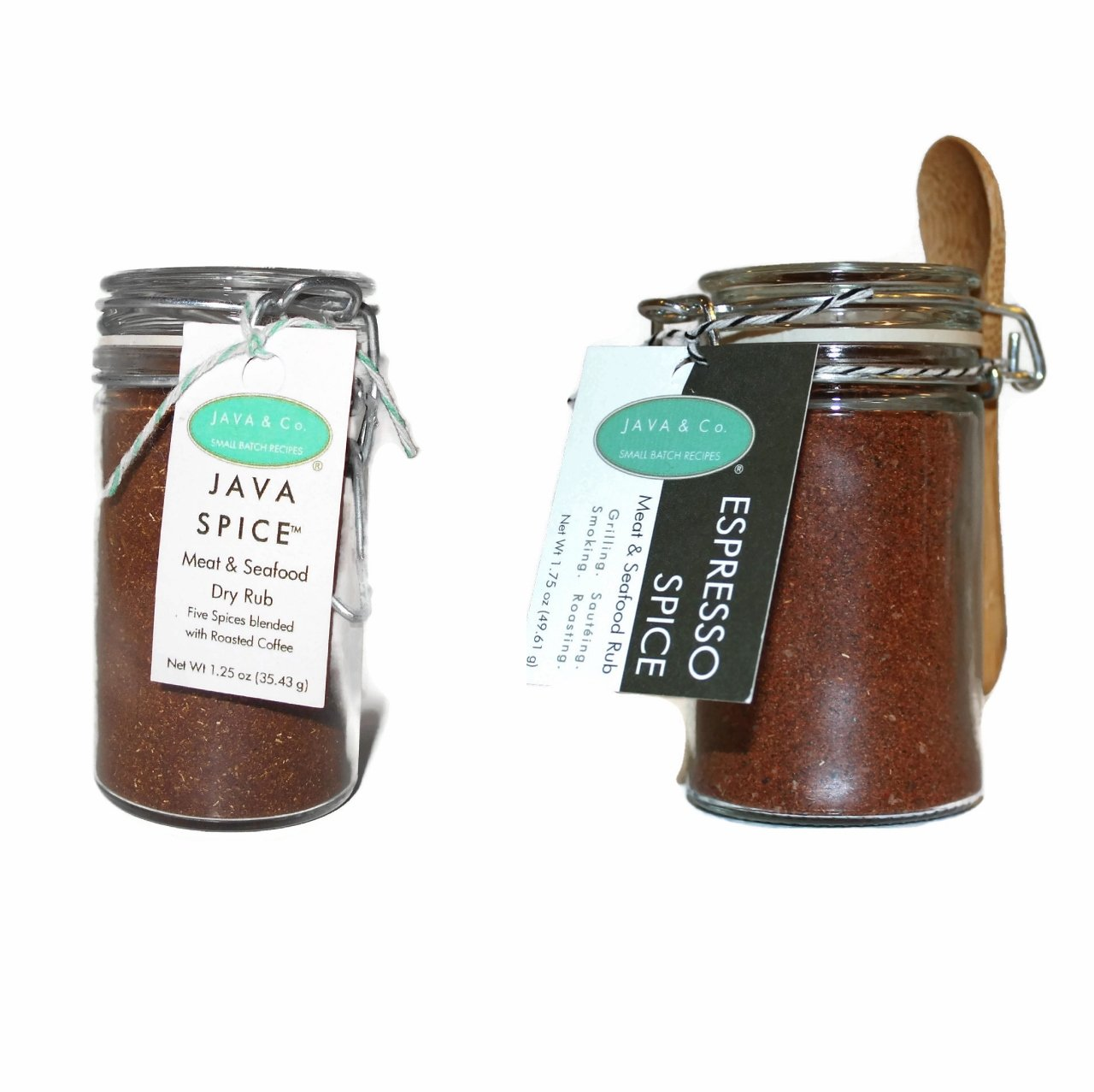Espresso Spice & JAVA Spice ~ Meat & Seafood Rub DUO, Gift Set of 2 Spices