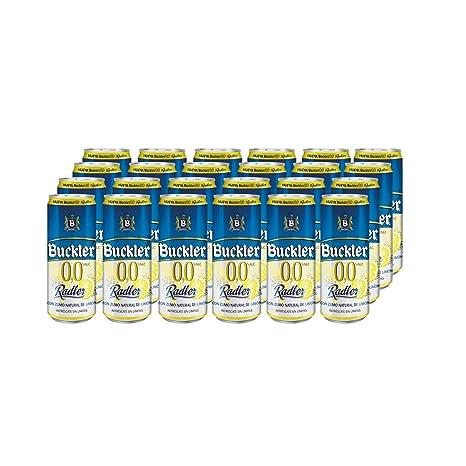 Buckler 00 Radler Limon Cerveza - Caja de 24 latas x 330 ml - 7,