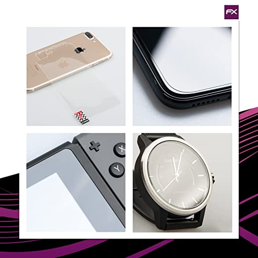 9H Hybrid-Glass FX Schutzpanzer Folie atFoliX Glasfolie kompatibel mit Garmin Fenix 6S 42mm Panzerfolie