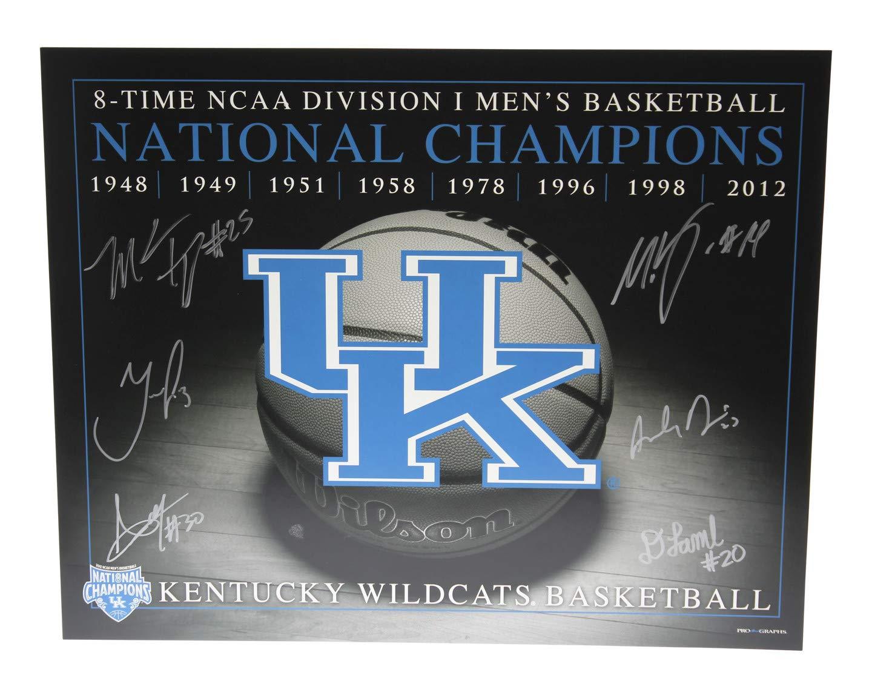 Kentucky 2012 National Champions Including Davis Lamb Jones Kidd-Gilchrist Autographed Signed 16x20 Photo Kentucky Wildcats - Certified Authentic