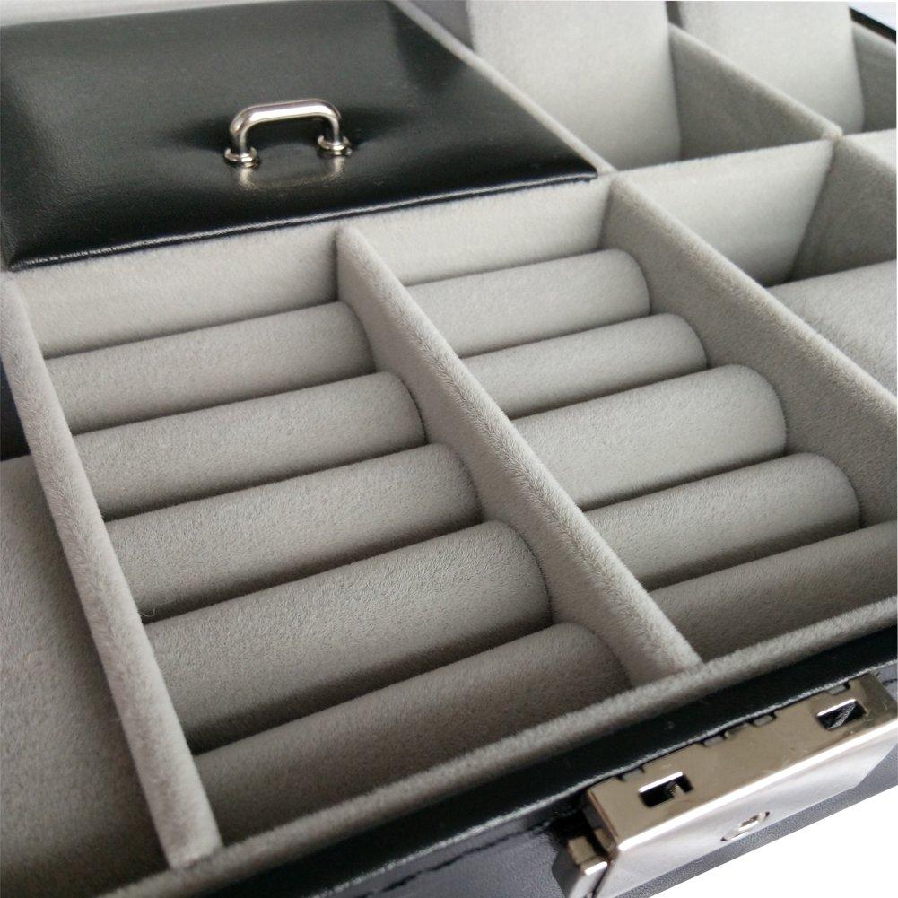 ce249f91d DoubleBlack Caja Para 8 Relojes Porta Joyería y Gemelos: Amazon.es: Relojes