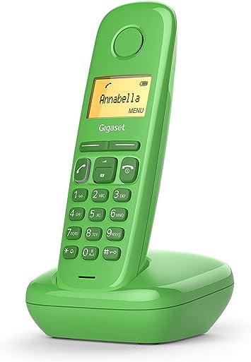 Gigaset A170 - Teléfono Inalámbrico, Pantalla Iluminada, Agenda de 50 Contactos, Color Verde: Amazon.es: Electrónica