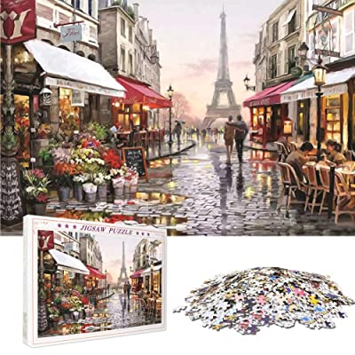 1000 Pieces Adult or Children Puzzles Paris Flower Street Puzzle Landscape Style Gifts: Toys & Games