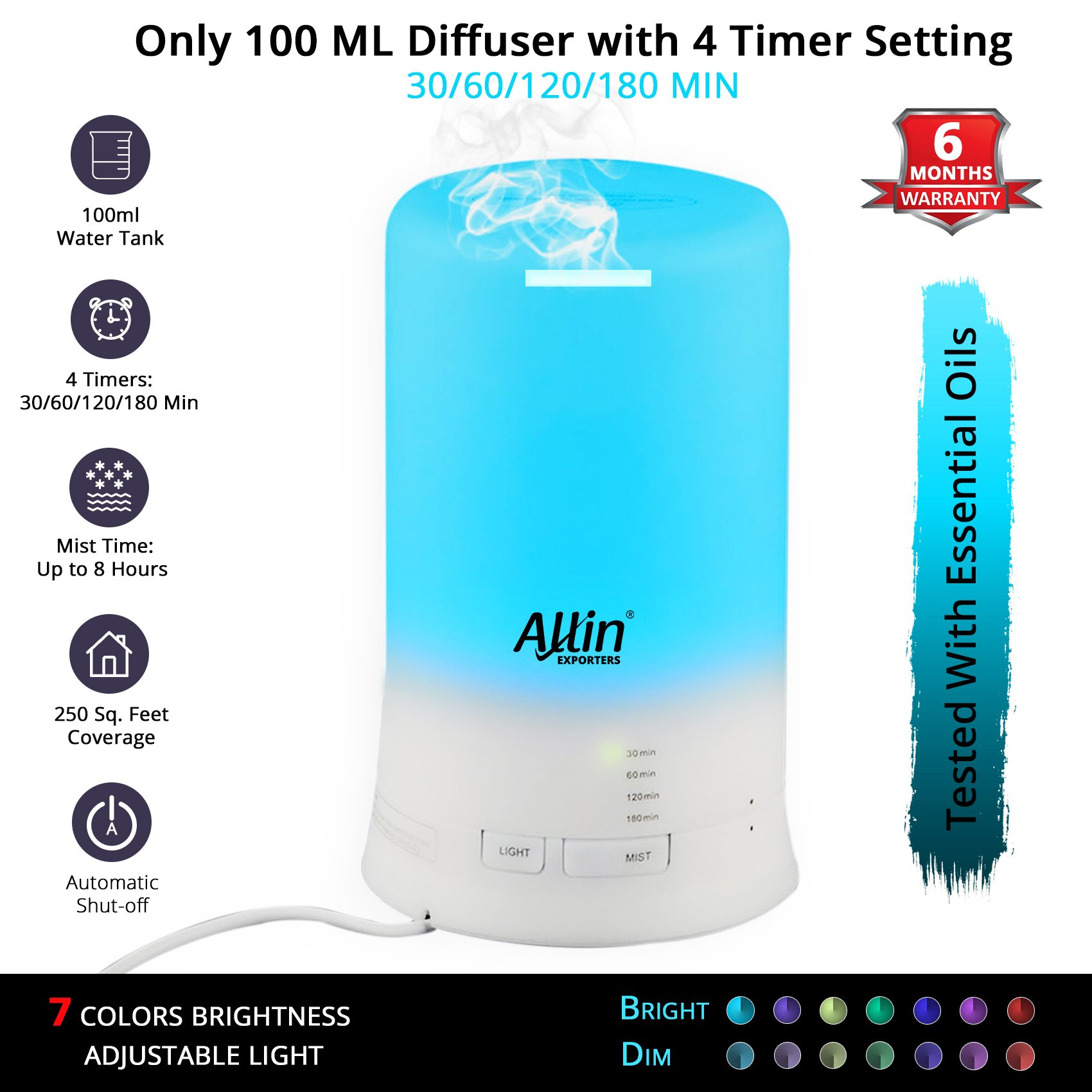 Best Rated In Home Fragrance Helpful Customer Reviews Buds Organics Mozzie Clear Spray 100ml Allin Exporters Dt 2109 Cool Mist Ultrasonic Humidifier Aroma Diffuser With 4 Timer Setting And
