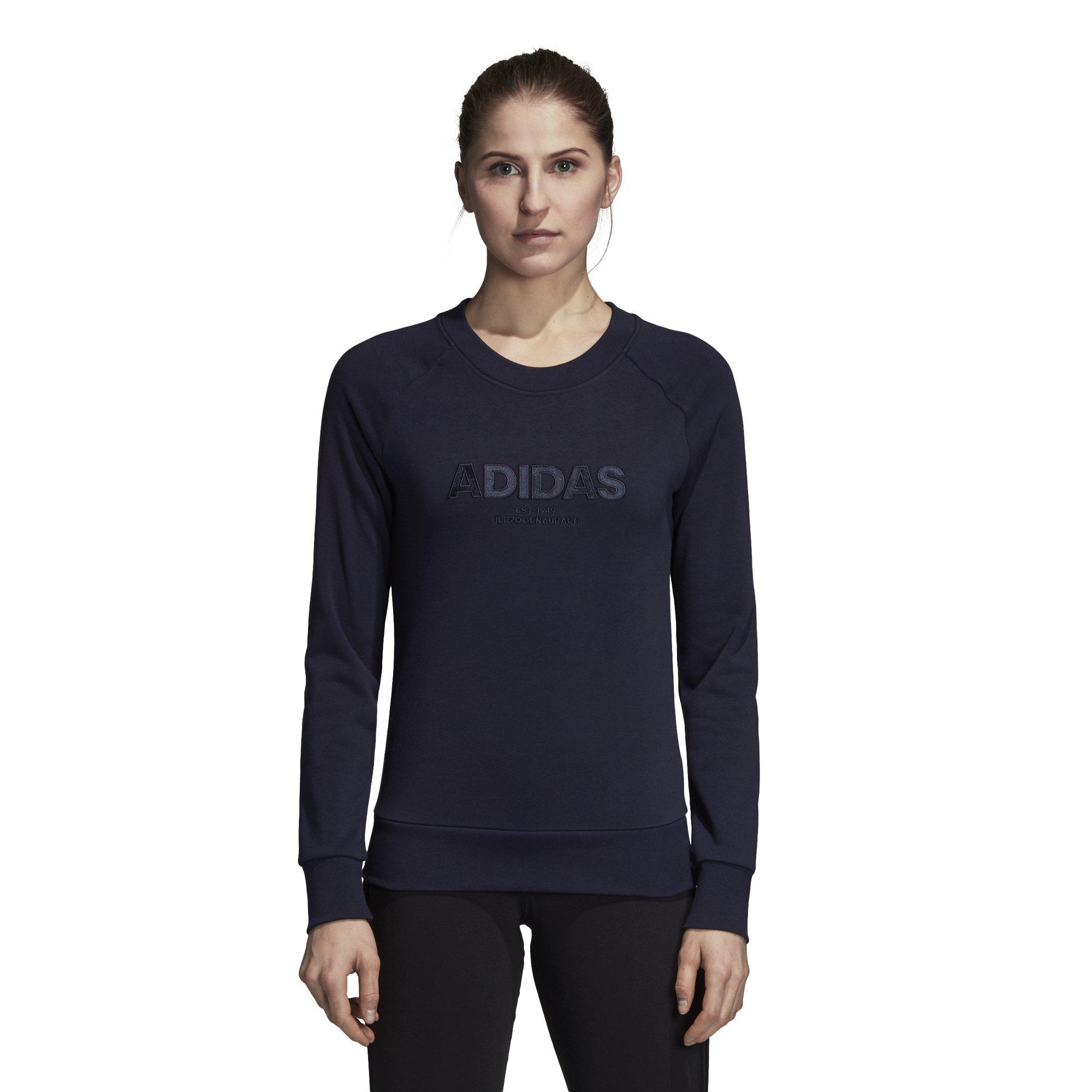 adidas Women's Essentials Allcap Sports Sweater, Variety (Legink, M) by adidas