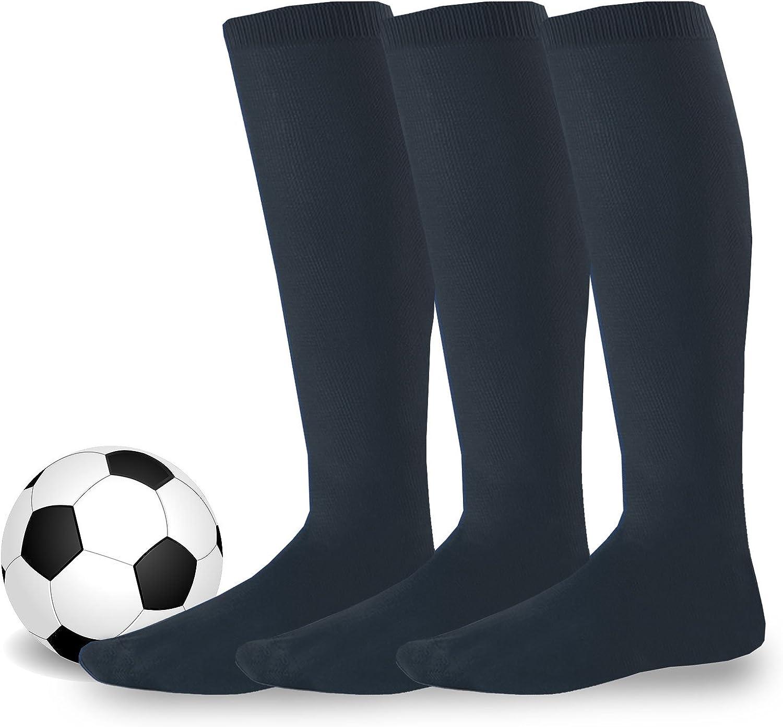 Soxnet Cotton Unisex Soccer Sports Team Socks 3 Pack: Clothing