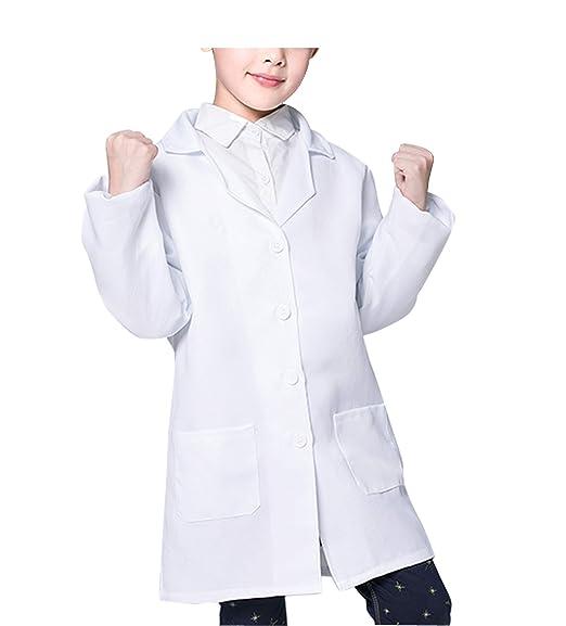 WWOO niños Bata de Laboratorio Unisex niños Científico ...
