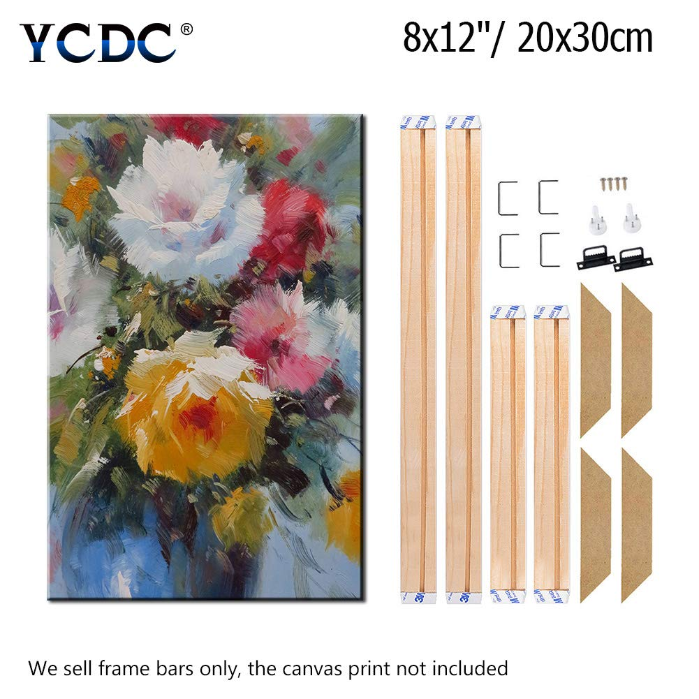 Modern Life Accessory,10x12//25x30cm Canvas Wood Stretcher Bars Painting Wooden Frames for Gallery Wrap Oil Painting Posters