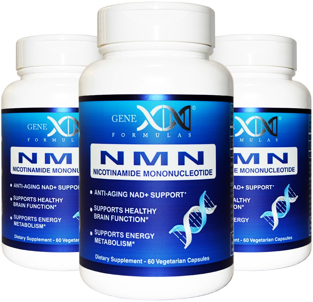 NMN 250mg Serving 3Pack Nicotinamide Mononucleotide Direct NAD+ Supplement, Anti Aging DNA Repair & Healthy Metabolism (2X 125mg caps 60 ct per Bottle)