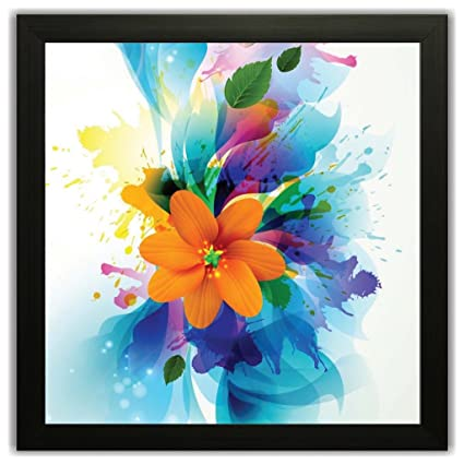 Printelligent Framed Floral Wall Paintings With Frame Size (12 Inch ...
