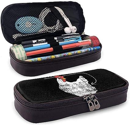 Estuche de lápices de cuero Guess What Chicken Bolso de bolígrafo Bolso de bolígrafo Estuche de lápices: Amazon.es: Oficina y papelería