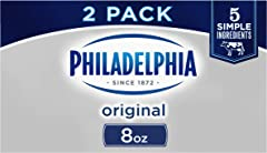 Philadelphia Cream Cheese Brick (8 oz Boxes, Pack of 2)