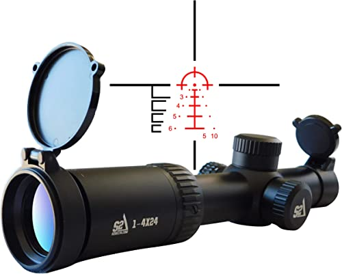 S2Delta Low Power Variable Optic (LVPO) Carbine Scope, Illuminated 5.56 BDC Reticle, 30mm Main Tube, SFP