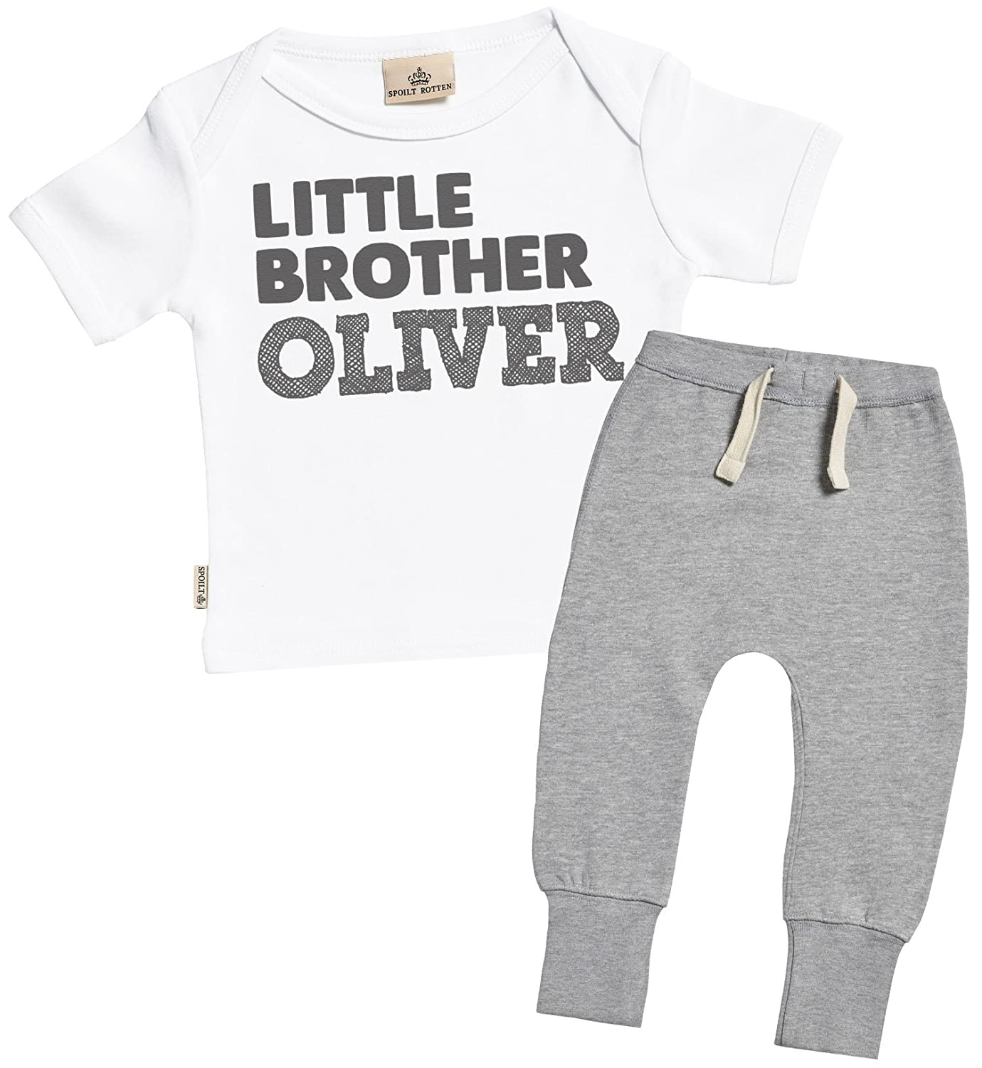 Amazon Sr Personalised Little Brother Custom Name Baby T
