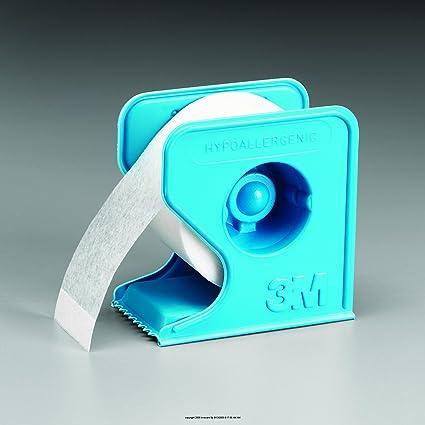 3 m de microporo color blanco y cinta de papel dispensador de con la: del